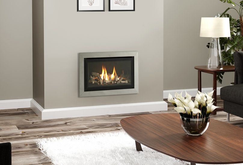 Gas Fire for Wall or fitting in a fireplace