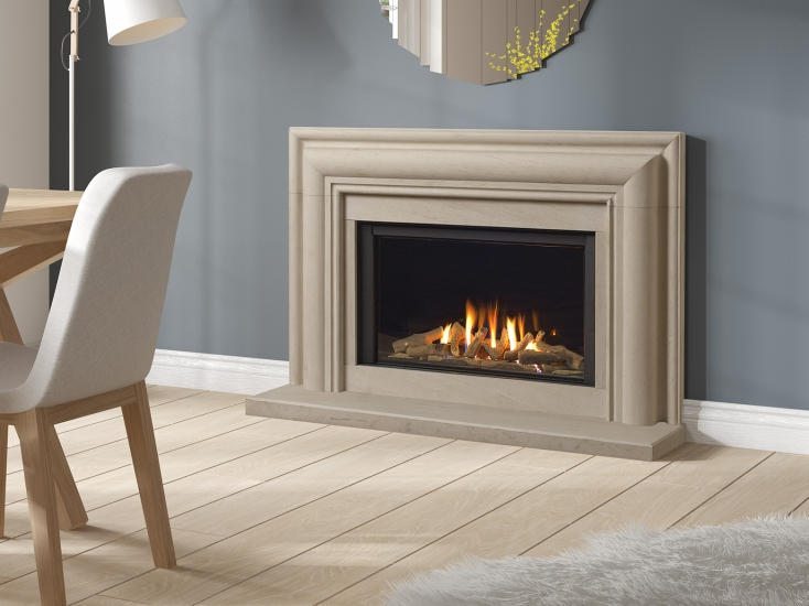 Extra wide, High efficiency gas fire.