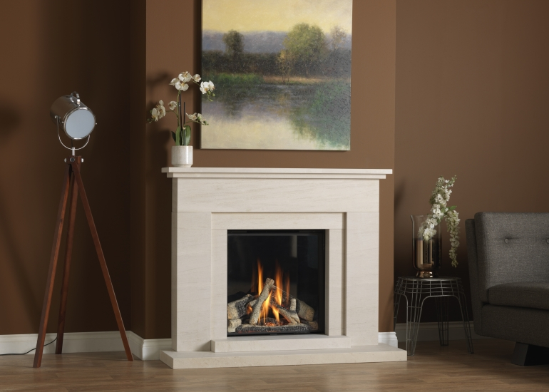 Large Gas fire with electric under bed lighting