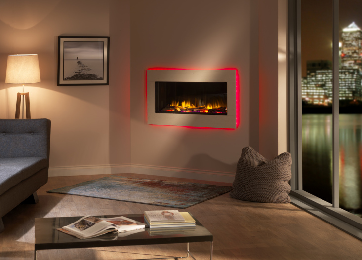 Medium sized inset electric fire